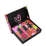 Weixinbuy Set de lápiz labial líquido mate de 3 piezas, lápiz labial liso impermeable de larga duración, juego de brillo de labios desnudo