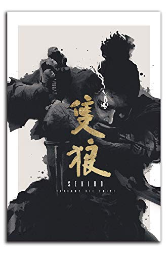Sekiro Shadows Die Twice Canvas Prints 30,5 cm x 45,7 cm Video Game Dark Soul Ninja Decoracion Arte para ninos y ninas Dormitorio, Sin enmarcar/Frameable