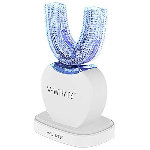 V-WHITE Ultraschall Elektrische Zahnbürste Automatische Zahnaufhellung Zahnbürste mit 4 optionalen Modi, Drahtloses Ladedock 2,0 plus