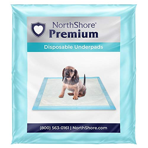 NorthShore Premium, 23 x 36, 25 oz, Puppy Pads, Blue, Large, Pack/25