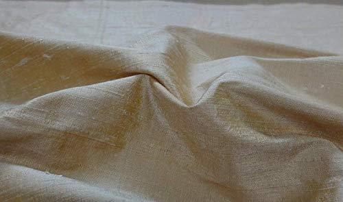 Fabrics-City BEIGE-GOLD DUPIONSEIDE 100% SEIDE STOFF SEIDENSTOFF STOFFE, 3383