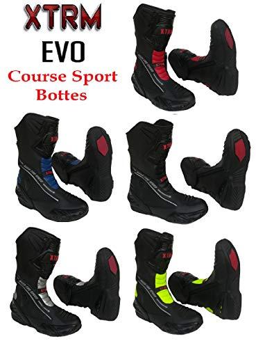 XTRM Bottes de Moto Evo Sports Bottes pour Adultes...