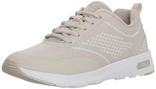 Fila Women's Memory Chelsea Knit Running Shoe, Silver Birch/Silver Birch/White, 9 Medium...