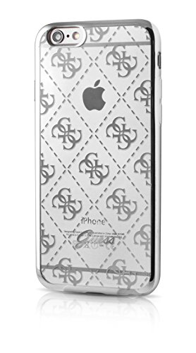 Guess GUHCP6TR4GSI 4G Collection TPU Case für Apple iPhone 6/6S transparent/Silber