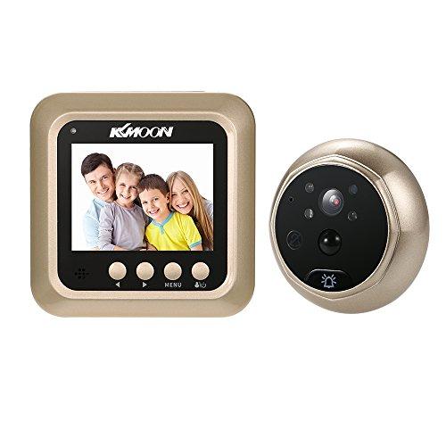 """KKmoon Timbre para Puerta Mirilla 2.4\"""" LCD 160° PIR Doorbell HD IR Cámara Visión Nocturna Tomar Fotos/Grabación de Video Detección de Movimiento Soporta Tarjeta TF MAX 32G"""