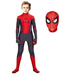 Bomly Superhero Costume Bodysuit For Kids Lycra Spandex Zentai Halloween Cosplay Jumpsuit 3d Style Kids M Height 45 48 Inch