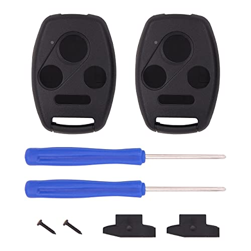 Keyless2Go Replacement for 4 Button Honda Remote Key Shell - with Chip Holder
