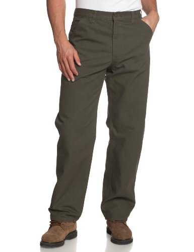 Carhartt Men's Washed Duck Work Dungaree Pant, Moss, 32W x 32L
