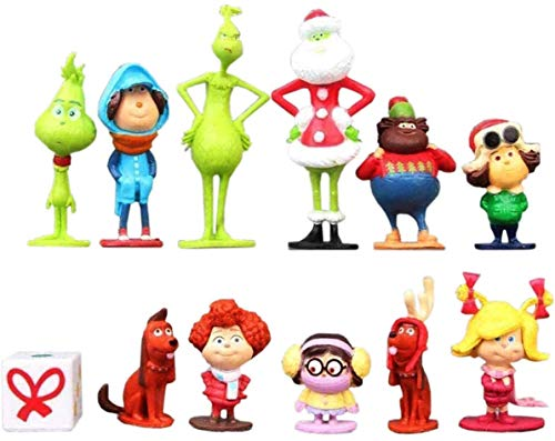 Playset Featuring The Grinch Who Stole Christmas Character Figures and Accessories