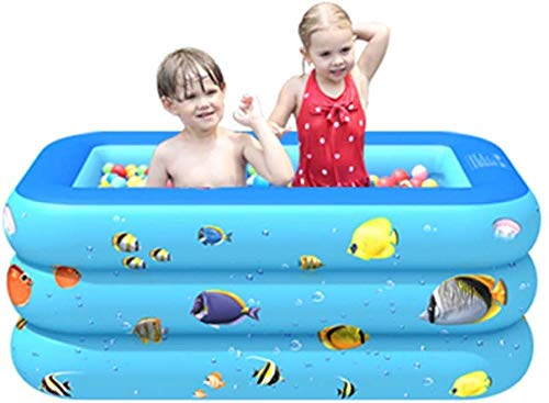 GFSDGF Piscina Inflable para niños sobre el Suelo Piscina Rectangular para niños con Anillo de natación Ocean Balls y Bomba de Aire