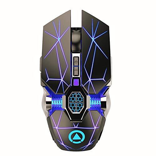 YMKT A7 Gaming Wireless Mouse Rechargeable Silent LED Backlit 2.4G USB Mobile Mouse Portable Optical Ergonomic Scroll Wheel Gamer Mouse for Computers Desktop Laptops Notebook PC Mac