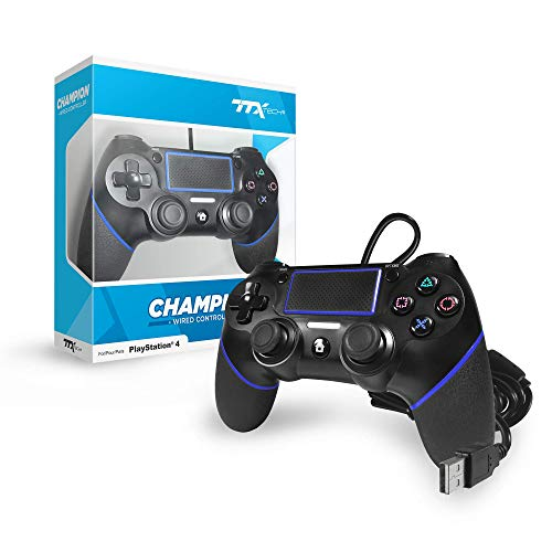 TTX Champion PS4 Wired USB Controller for Playstation 4 - Black