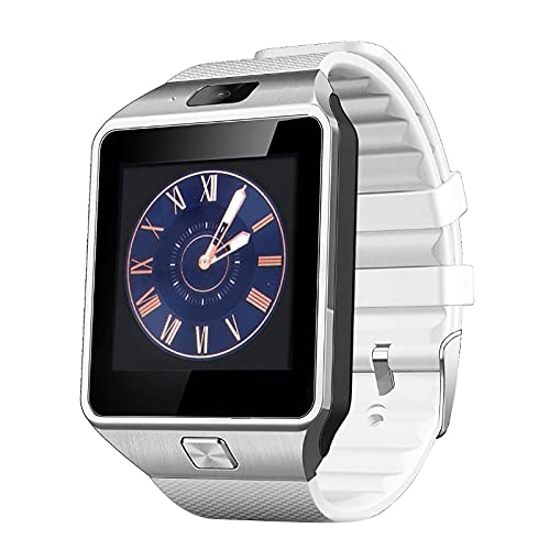 HJYBYJ DZ09 Bluetooth Smart Watch IP68 Impermeable Sueño Rastro Cardíaco Monitoreo Tracker Reloj Inteligente Hombres Y Mujeres Reloj De Pulsera (Color : White)