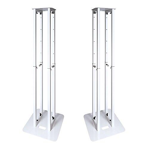 Novopro PS1XL Podium-Turm, höhenverstellbar, inkl. Gitterstäben und Taschen, 2 Stück