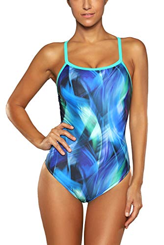 beautyin Athletic Swimwear X Back One Piece Bathing Suit Swimsuit for Ladies XL