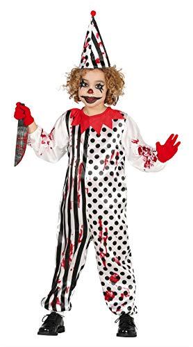 FIESTAS GUIRCA Disfraz Pierrot Zombie Sangriento Infantil niña Talla 7-9 años