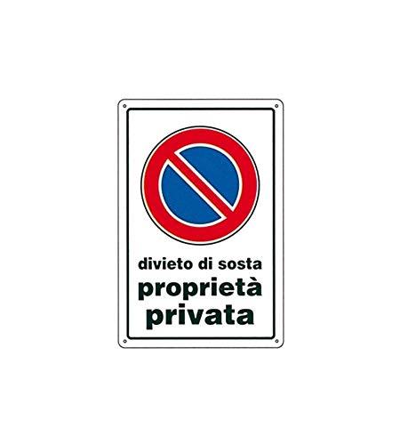 CARTELLO DIVIETO DI SOSTA P.P. 30x 45 ALLUMINIO [TARGOTIMBRI ]