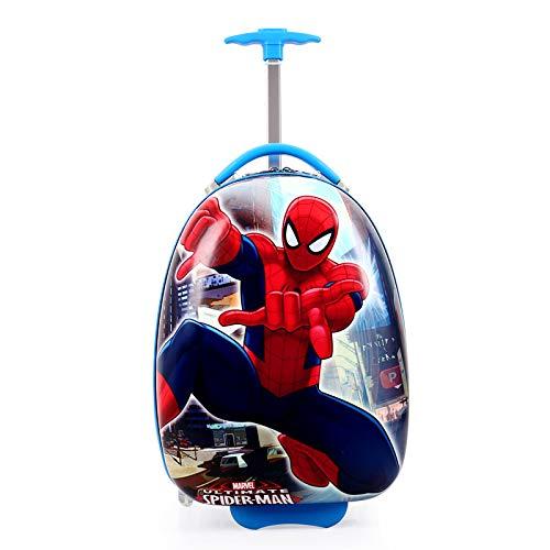 Cute One-Way Wheel Eggshell Schoolboy Bag 16 inches Spider Gorge