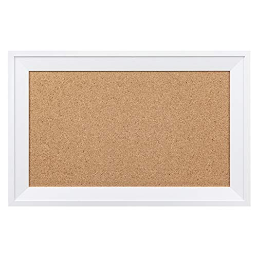 HBlife Cork Board Bulletin Board11 x 17 inch with White Frame Rectangle Decorative Hanging Pin Board Perfect Decor for Office & Home,Message Board or Vision Board