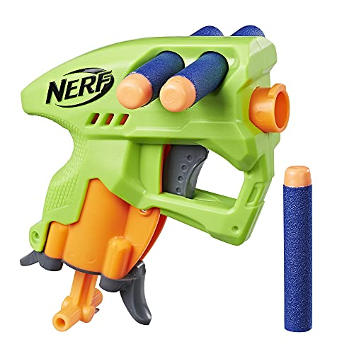 Nerf NanoFire Blaster, Green Single-Shot Blaster with Dart Storage, Includes 3 Elite Darts, For Kids Ages 8 and up