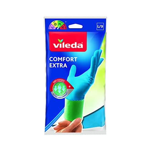 Vileda - Confort Extra - Guantes multi-usos, talla grande
