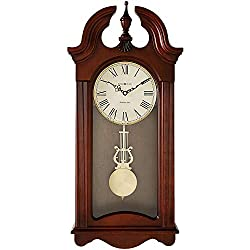 Howard Miller Malia Wall Clock 625-466 – Cherry Wood with Quartz & Single Chime Movement
