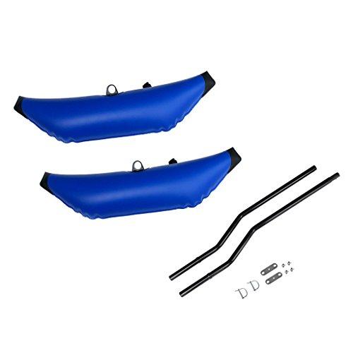 Toygogo 2 Piezas Conjunto de Estabilizadores Inflables con Soporte de Poste para Kayak Canoa Barco de Pesca