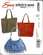 M6057 Easy Stitch 'n Save Hobo Bags by McCalls