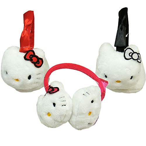 Hello Kitty Earmuffs with Bow/Black Pink or Red