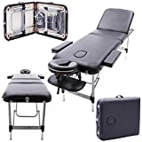 Massage Imperial® Professional Buckingham/Richmond Aluminium 12Kg - Black 3-Section Portable Massage Table Couch