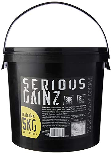 The Bulk Protein Company - Serious Gainz – Mass Gainer Protein Powder – Banana 5kg, B142-BA