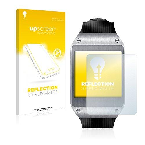 upscreen Entspiegelungs-Schutzfolie kompatibel mit Samsung Galaxy Gear V700 – Anti-Reflex Displayschutz-Folie Matt