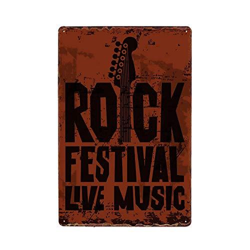 Rock Metal Signs Vintage Plaque Music Poster Retro Tin Plate Bar Decoration Pub Decorative Home Decor 981801