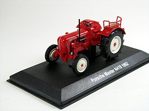 Unbekannt Modell Traktor 1:43 Porsche Master N419 rot 1962 Hachette