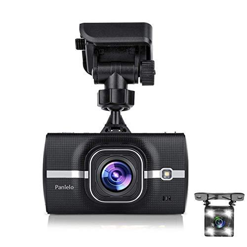 Panlelo D6 Dash Cam Full HD 1296P Telecamera per Auto con Obiettivo Grandangolare di 170°, Super Condensatore, WDR Visione Notturna Dashcam con Registrazione in Loop, G-Sensor,Caricabatteria per auto