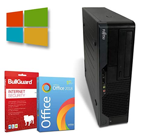 Fujitsu Esprimo E5731 Desktop | Intel Pentium Dual Core-E5500 2,8GHz | 4GB | 250GB HDD | DVD-Brenner | Windows 10 Pro | BullGuard | SoftMaker Office (Generalüberholt)