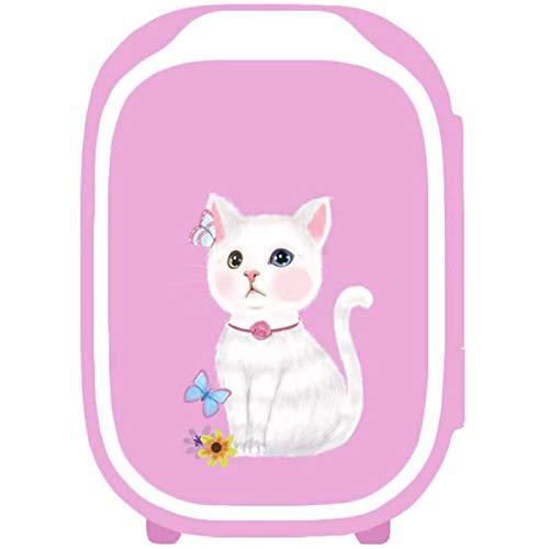 MEETGG Immagine del Gatto del Mini frigo Portatile, per Auto della Camera da Letto, Stanza del dormitorio