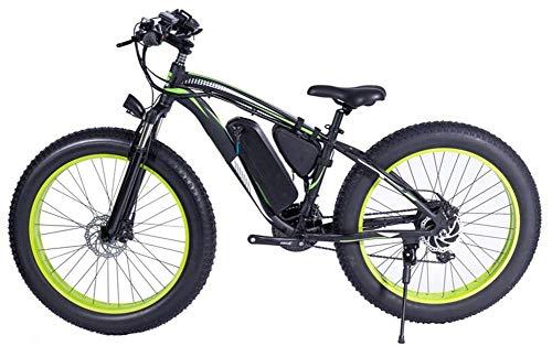 HSART 48V 1000W Electric Mountain Bike 26Inch Fat Tire Ebike 21 Speeds...