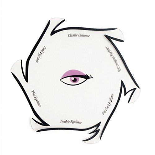Modelo de Eyeliner para el Eye-Liner Parfait por Blissany, Cat ojos, ojos Stencil 6 Styles, Double Wing, Extravagant Cat, Arabic Eyeliner