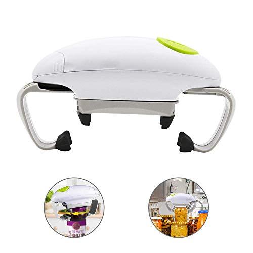 Glatter elektrischer Dosenöffner mit weicher Kante mit One-Touch-Startknopf, vollautomatischer Freisprech-Dosenöffner für Senioren und Jugendliche