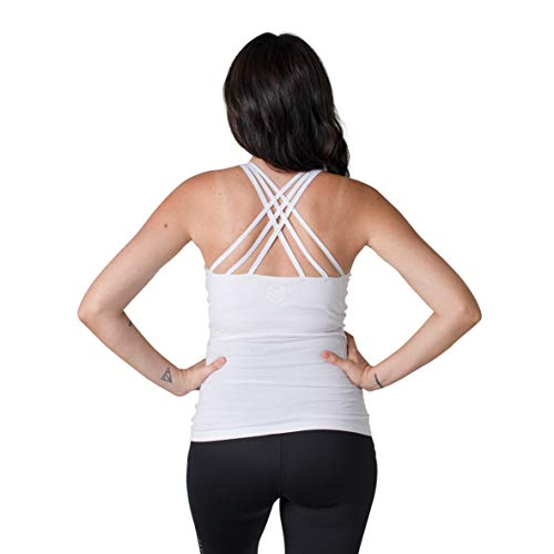 Product Image of the Movemama Maternity Workout and Yoga Top with Cross Back Detail, Shelf Bra and...