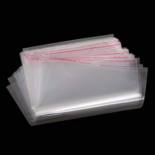 MZMing [50 pezzi] A4 Sacchetto Trasparente in Cellophane Sacchetto Sigillato AutoadesivoIspessimento Busta in Plastica OPP per Imballare il Pane Sapone Maglietta Carta Rivista Documenti(21,5 x 31 cm)