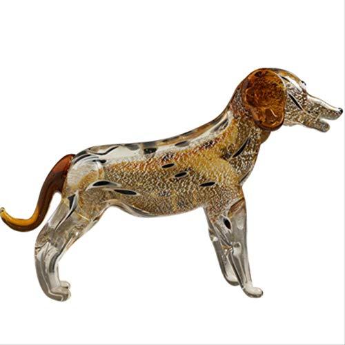 DOUYA Ornamenten Voor Woonkamer Luxe Gekleurde Glazen Hond Decoratie Creatieve Woonkamer TV-Kast Simulatie Dier Synthetische Quartz Ornamenten