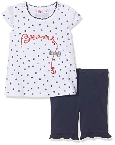 Brums Completo Jersey T-Shirt Lunga+Pescatore Completino, Blu (Blu 09 280), 80 (Taglia Produttore:12M) (Pacco da 2) Bimba