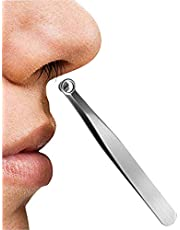 JXWYHH Universal Nose Hair Trimming Tweezers - Nose Hair Removal Kit, Stainless Steel Nose Hair Trimmer Long Tweezers, Eyebrow Clippers Trimmer for Men Women Brow, Body, Noses