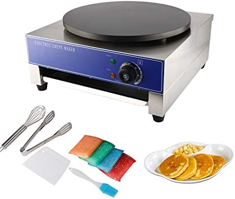HYDDNice 15 7 Commercial Crepe Maker 1 8KW Electric Crepe Maker Machine Hot Plate Cooktop Pancake product image