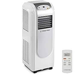 TROTEC mobile air conditioner PAC 2000 E with 2,1 kW / 7.200 Btu, EEK A (timer, dehumidification and ventilation function, adjustable air flow direction, 3 ventilation levels)