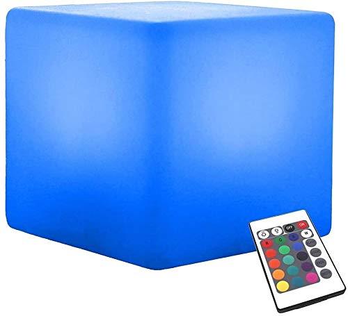Ygetas Led Mood Light Cube-Farben-LED Hocker Stuhl nachladbare wasserdichte Sitztisch Stehlampe Einstellbare 16 RGB 4 Helligkeit Batterie Fernbedienung Start dekorative Nacht Licht