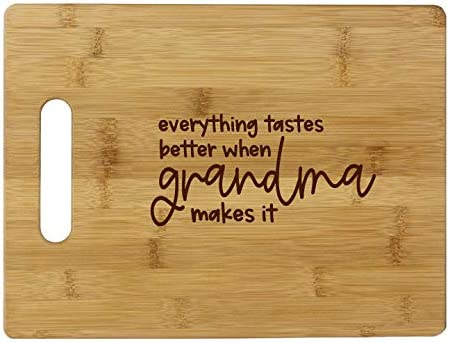 Everything tastes better Grandma Board Bamboo medium- Cheap super special shop price Cutting