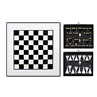 大人のためのチェスインターナショナルチェスチェスセット2つの引き出し付きデラックス木製チェス盤チェスの駒